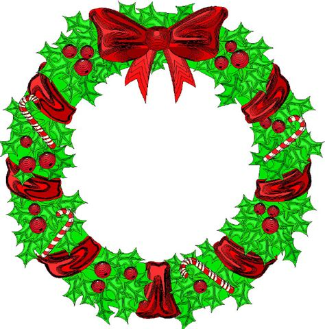 images of christmas reefs cartoon christmas wreath clipart best