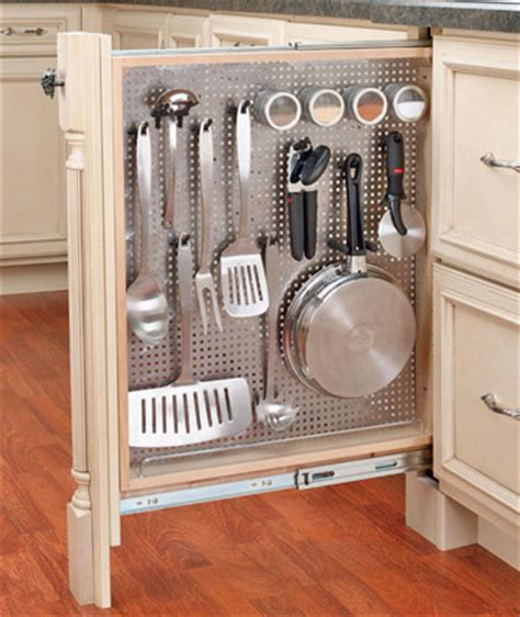 cool pegboard ideas savvy housekeeping 187 7 clever kitchen storage ideas