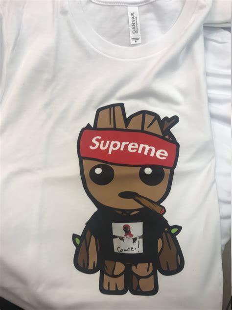 Kaos Supreme X Guci Premium 1 baby groot shirt gucci mane shirt supreme style baby