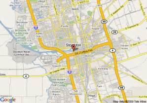 map of howard johnson express inn stockton ca stockton