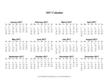 printable calendar 2017 pages printable 2017 calendar one page with large print