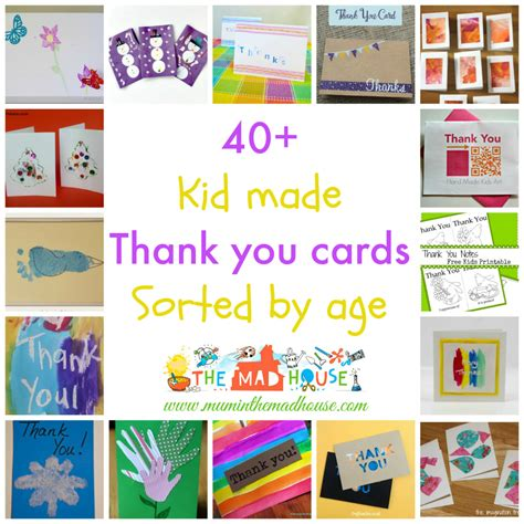 how to make a thank you card in word kid made thank you cards sorted by age in the madhouse