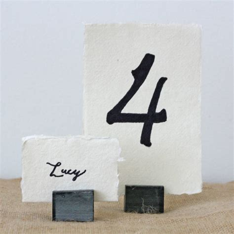 table top place card holders four slate place card table number holders by the wedding