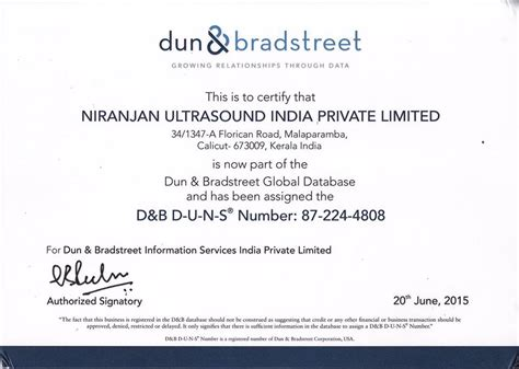 how to update dun and bradstreet information niranjan ultrasound india dun bradstreet certificate