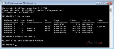 format flash disk by cmd format bersih flashdisk dengan diskpart command prompt