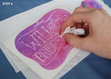 watercolour cards diy diy watercolor will you be my bridesmaid cards grace