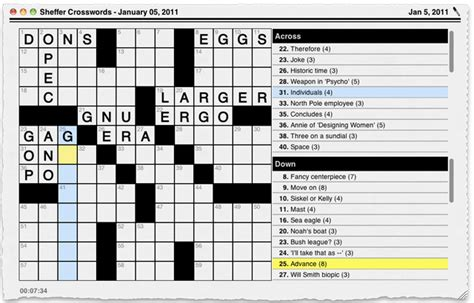 scow feature crossword clue stand alone inc handheld software crosswords for mac