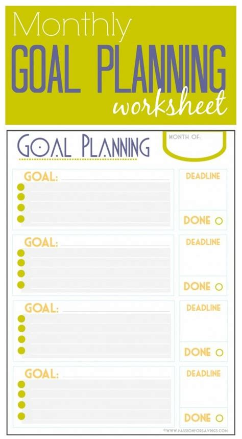 monthly goal planner printable if you need help with goal planning check out this
