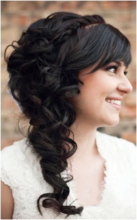 hairstyles side curls curly hairstyles for long hair style samba