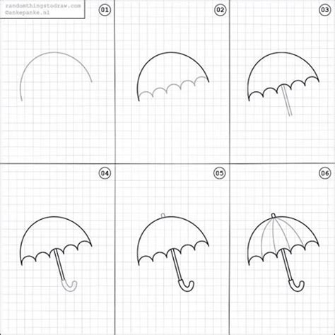 Easy Cool Things To Draw Step By Step by How To Draw An Umbrella How To Draw And Paint