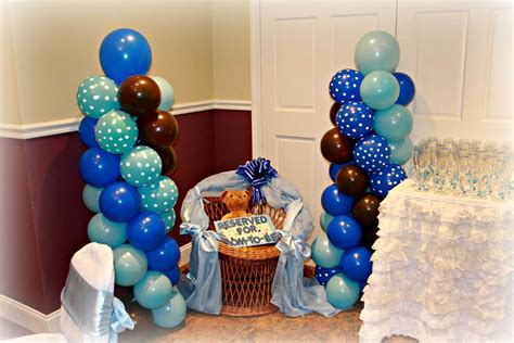 Brown And Baby Blue Baby Shower Decorations by Teddy Baby Shower Blue And Brown