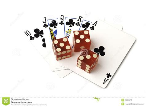 dice and cards stock image image of clubs studio