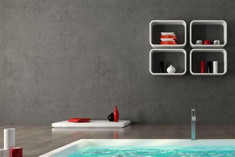beton wandfarbe naturstein im badezimmer marmor schiefer sandstein