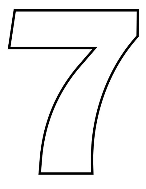 coloring page number 7 file classic alphabet numbers 7 at coloring pages for kids