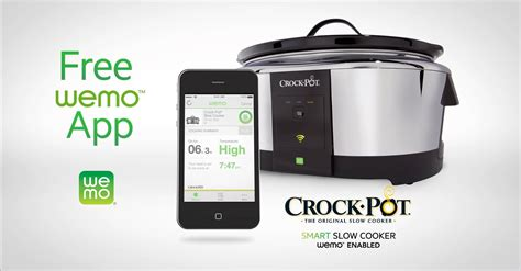 wifi cooker 6 quart smart wifi cellphone programmable slow cooker