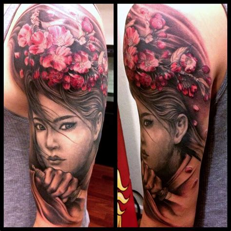 red demon tattoo japanese themed half sleeve for now done by