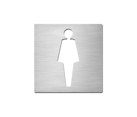 stainless steel bathroom signs pictograms square stainless steel ladies toilet