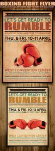 promotional flyer template boxing flyer template flyerstemplates