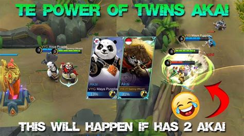 Mobile Legends Akai 2 this will happen if has 2 akai in match the power of akai mobile legends patch 2 12