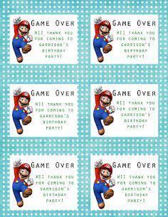 printable mario thank you cards free printable mario party printables game over thank