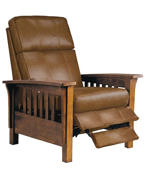 Leather Mission Style Recliner by Best 25 Craftsman Recliner Chairs Ideas On
