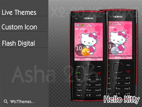 themes jar nokia 206 theme hello kitty for nokia x2 00 x2 02 x2 05 6303i