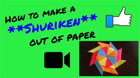 How To Make A R Out Of Paper - how to make a shuriken out of paper