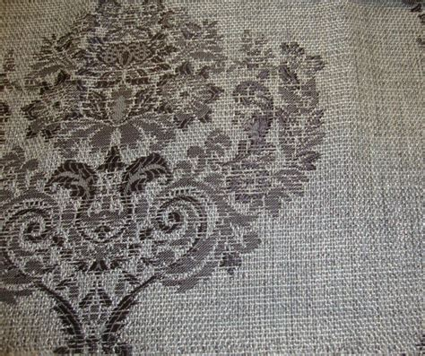 sparkle upholstery 55 quot wide platinum damask metallic sparkle upholstery
