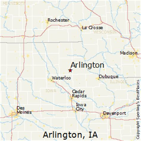 where is arlington texas on the map best places to live in arlington iowa