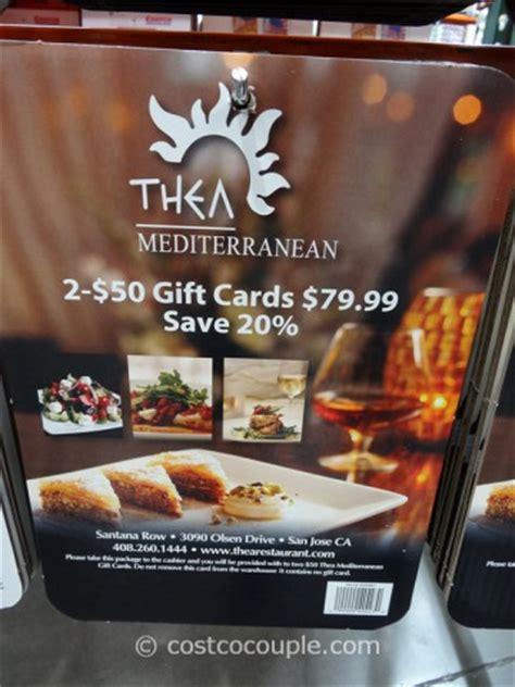 Costco Dining Gift Cards - thea mediterranean gift card