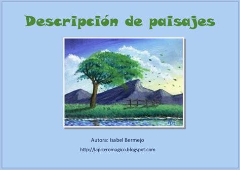 descripcion de imagenes en ingles ejemplos descripci 243 n de paisajes