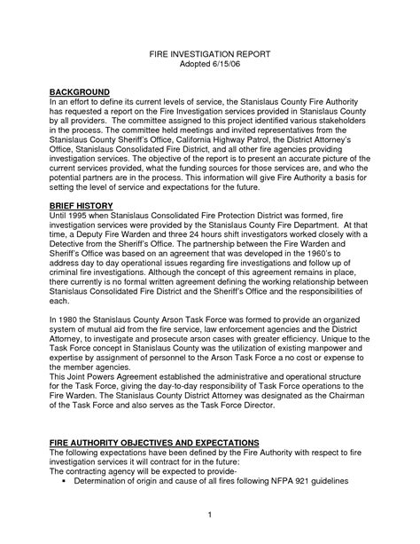 investigative report template best photos of investigation report template sle