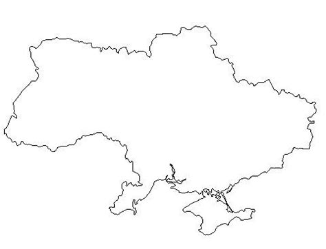 Ukraine Outline Map by Blank Outline Map Of Ukraine Schools At Look4