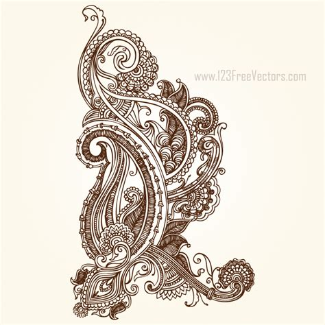 adobe illustrator paisley pattern henna paisley designs 123freevectors