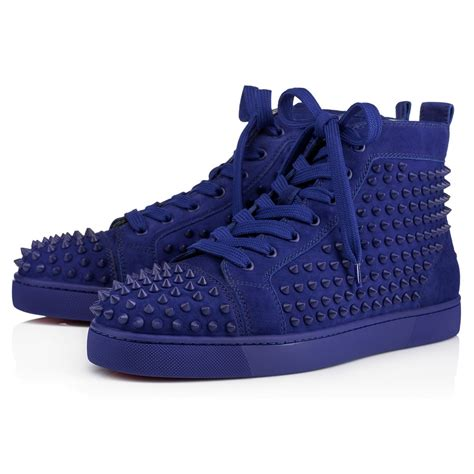 mens louboutin sneakers christian louboutin louis spikes s flat in atlantic