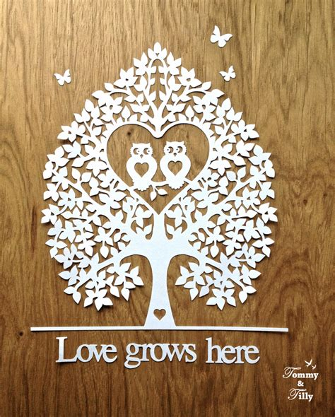 How To Make Paper Cut Designs - template owl tree 2 different designs papercut