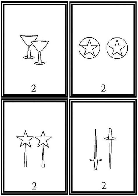 printable tarot cards to color free printable tarot cards