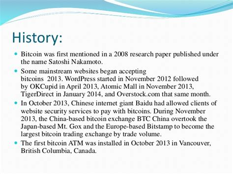 bitcoin research paper bitcoin technology