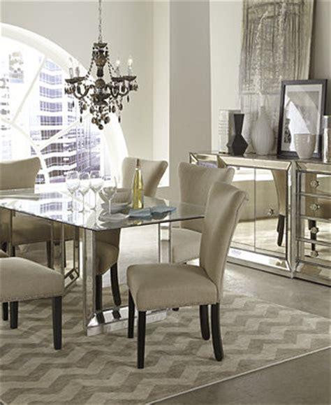macys dining room furniture sophia mirrored dining room furniture collection
