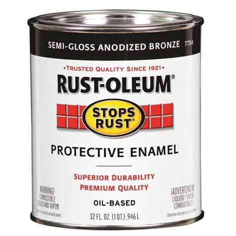 acrylic and alkyd paint shop rust oleum alkyd enamel stops rust anodized bronze