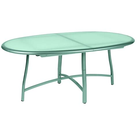 Patio Tables by Rivage Oval Patio Dining Table Extendable 70 95 Inch
