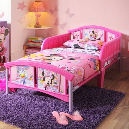 minnie mouse bed disney minnie mouse plastic toddler bed walmart