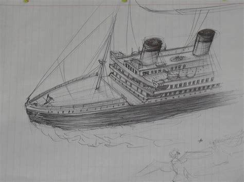 titanic boat sketch drawn titanic pencil drawing pencil and in color drawn
