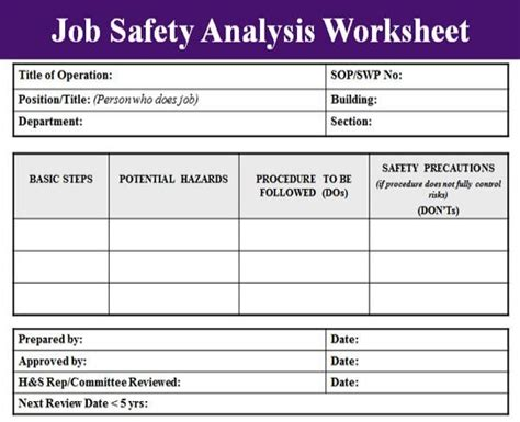osha safety program template safety analysis template excel project management