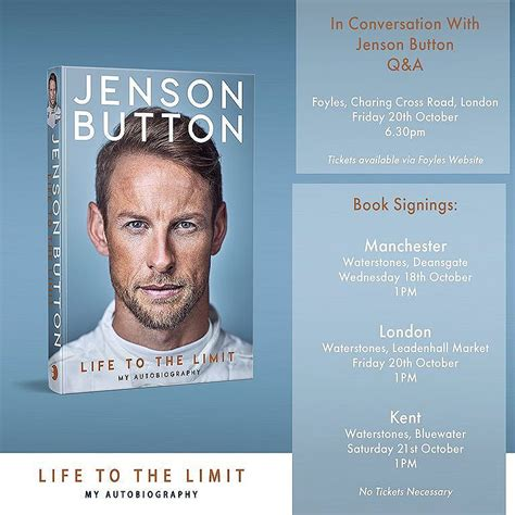 jenson button to the limit my autobiography books my in my words in you missed the official