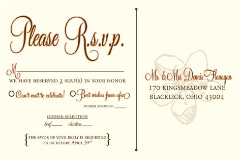 rsvp templates designs by n wedding rsvp postcards