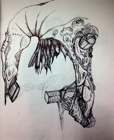 H R Giger Sketches by H R Giger Inspired Drawings Artwork The Ttv Message