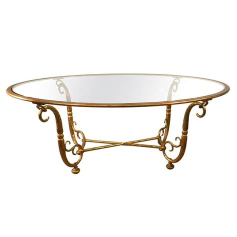 Glass Iron Dining Table Italian Work Large Golden Iron And Glass Dining Room Table At 1stdibs