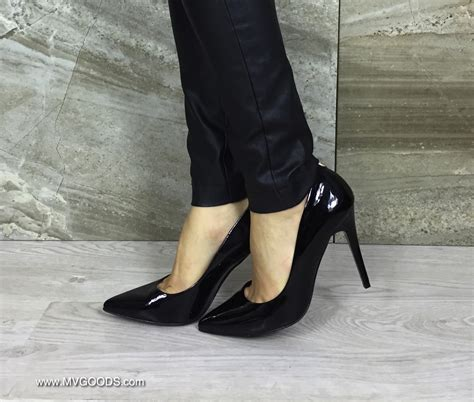 and high heels high quality leather high heels sala quot lack black quot mvgoods