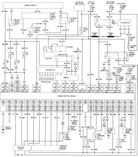 1995 toyota tacoma wiring diagram wiring diagram manual
